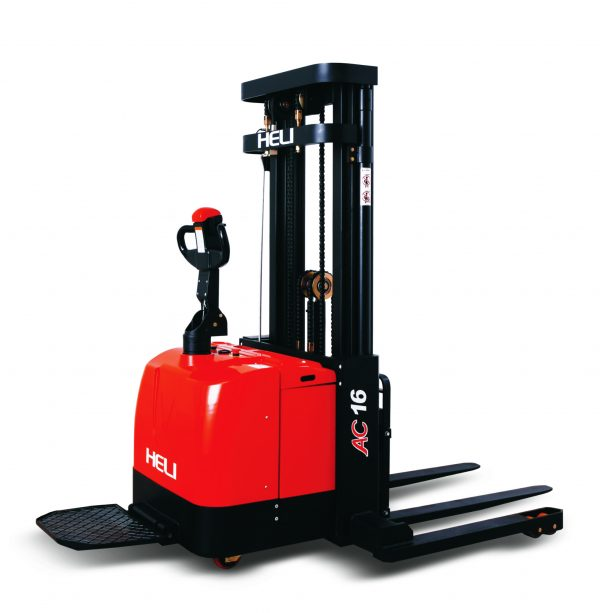 Heli 1.6 Ton Electric Pallet Stacker (Wide Leg)
