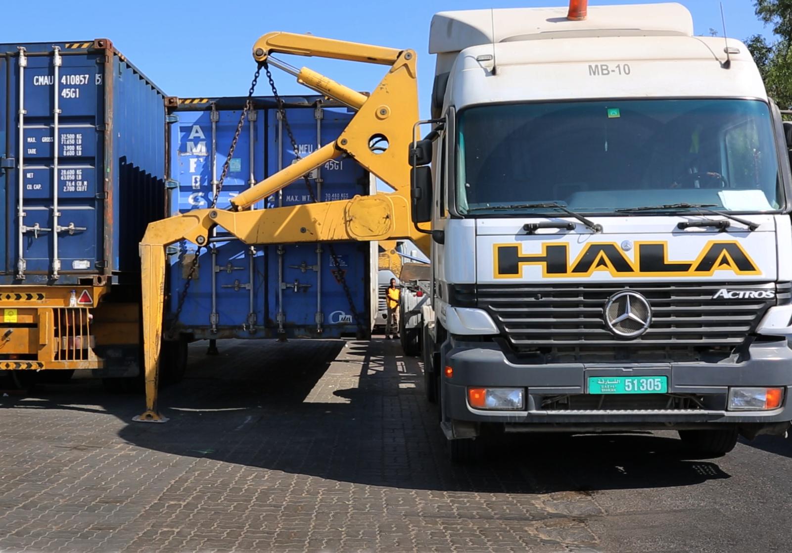 Sideloader Truck in Dubai, UAE